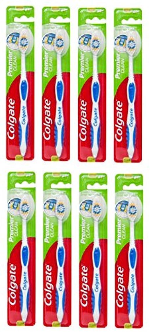 バング刺す裏切るColgate Premier Clean コルゲート 歯ブラシ 8個 [並行輸入品]