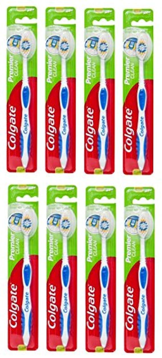 ヘルパーパース冷蔵するColgate Premier Clean コルゲート 歯ブラシ 8個 [並行輸入品]