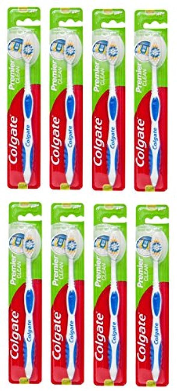 財団カプセルモニカColgate Premier Clean コルゲート 歯ブラシ 8個 [並行輸入品]