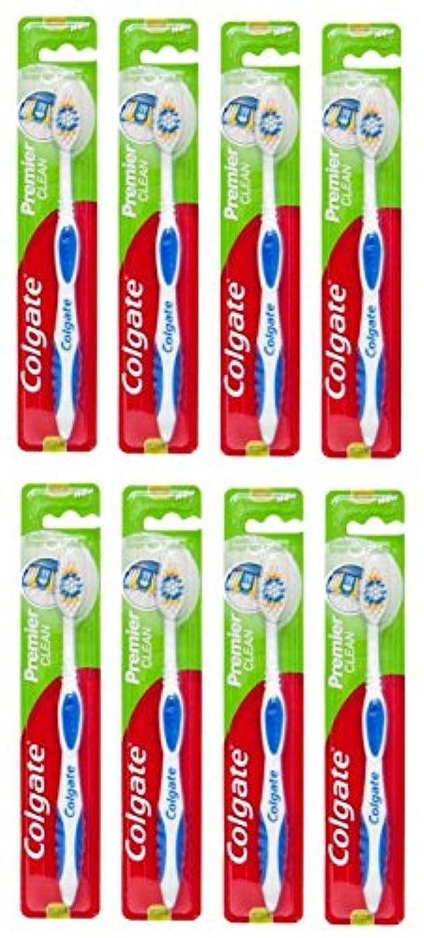 派生する先祖ヒップColgate Premier Clean コルゲート 歯ブラシ 8個 [並行輸入品]