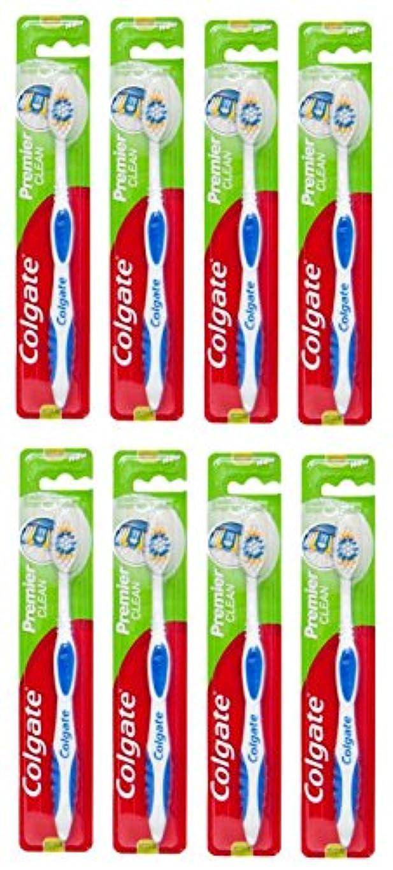 貨物流産もっと少なくColgate Premier Clean コルゲート 歯ブラシ 8個 [並行輸入品]