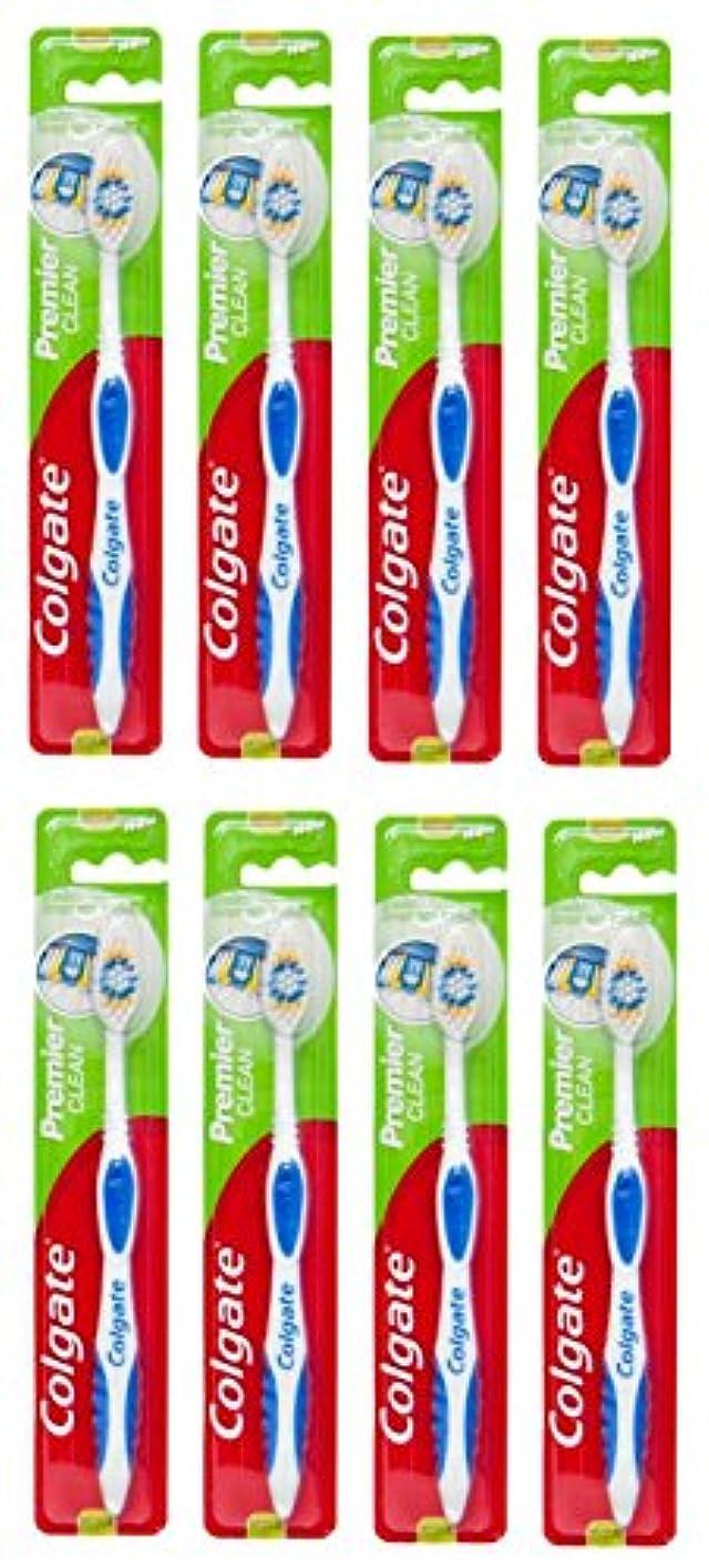 配るとにかくに対処するColgate Premier Clean コルゲート 歯ブラシ 8個 [並行輸入品]