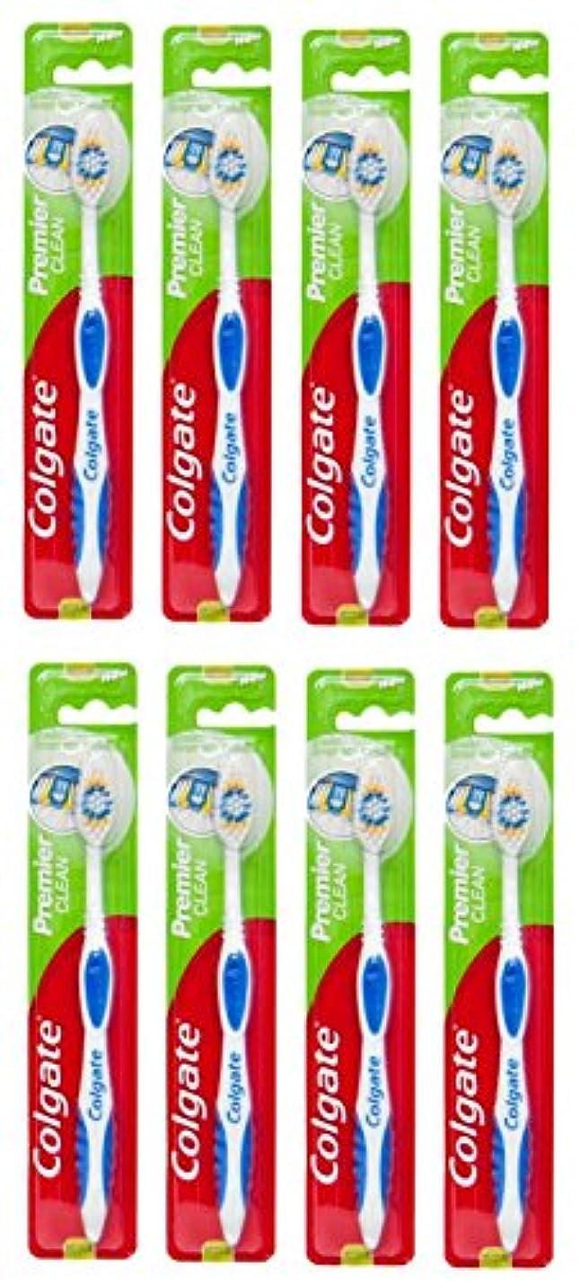 見つけた議論する魔術Colgate Premier Clean コルゲート 歯ブラシ 8個 [並行輸入品]