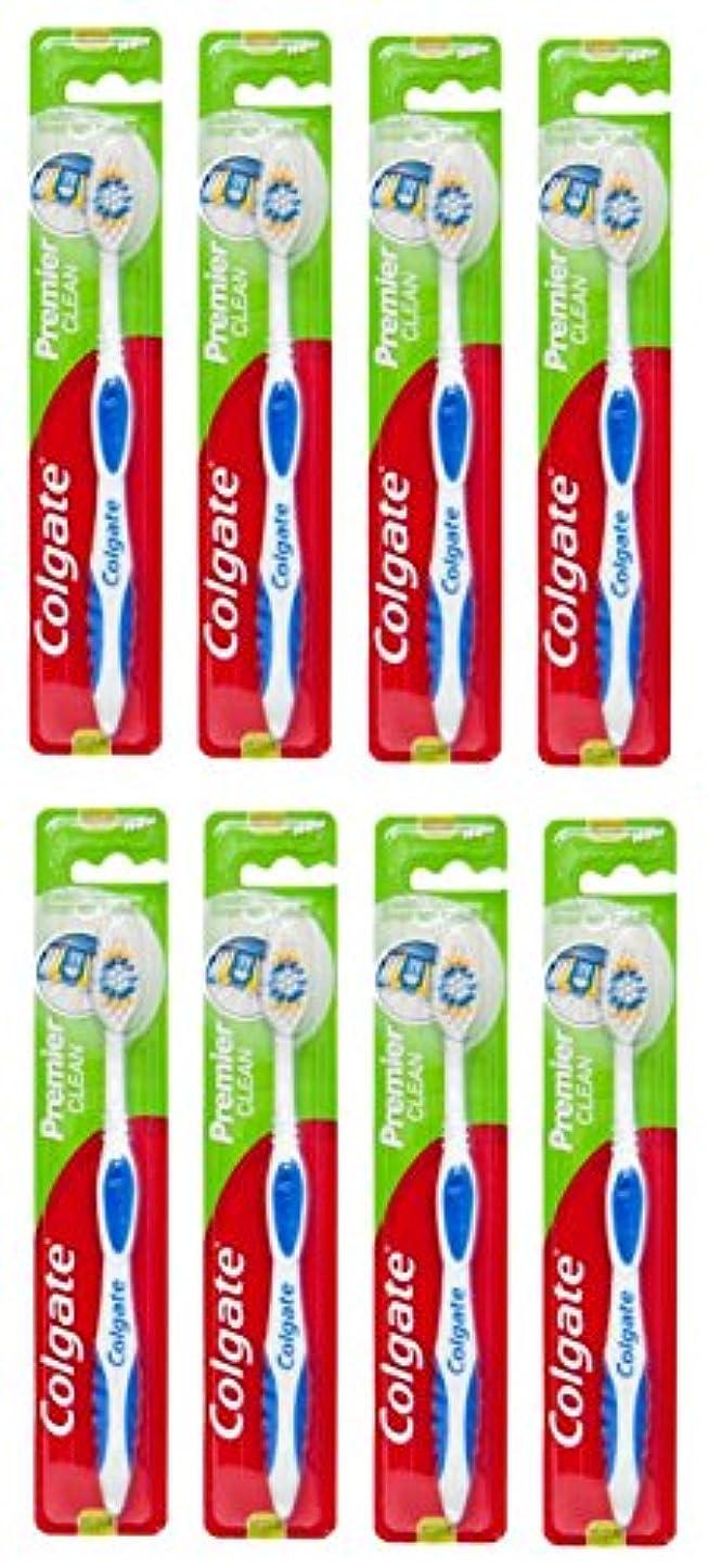 共役解釈アジャColgate Premier Clean コルゲート 歯ブラシ 8個 [並行輸入品]