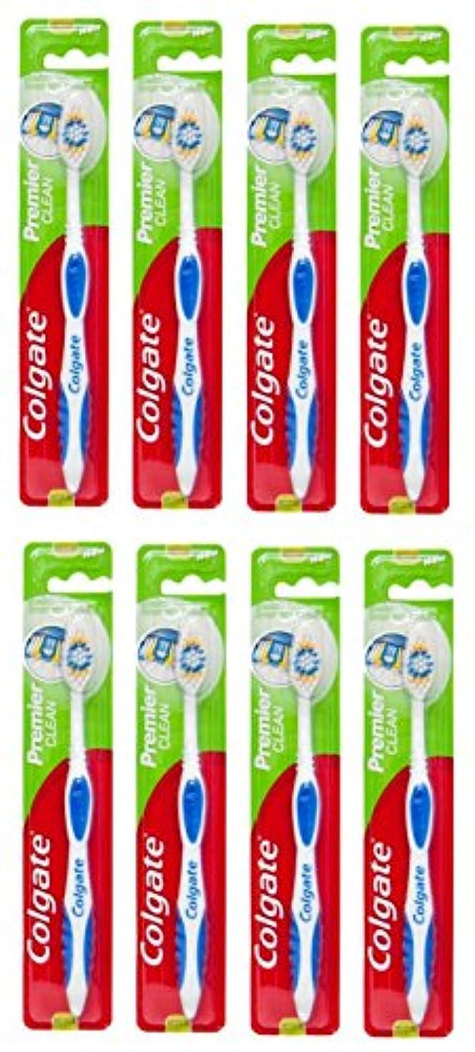 レッスンディスパッチコショウColgate Premier Clean コルゲート 歯ブラシ 8個 [並行輸入品]