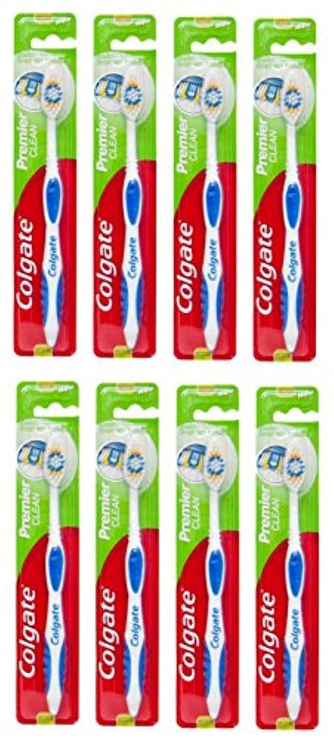 よろめく落ち着かないわざわざColgate Premier Clean コルゲート 歯ブラシ 8個 [並行輸入品]