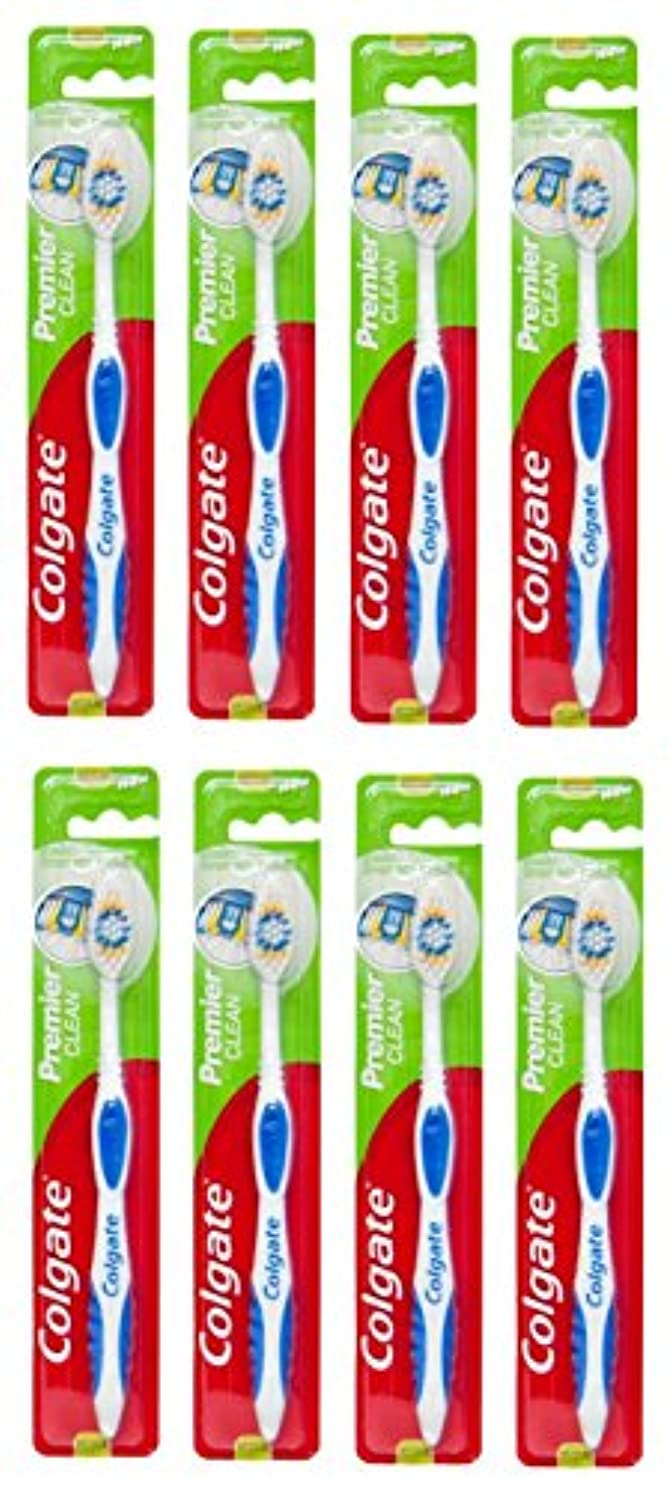 法王相手嫌なColgate Premier Clean コルゲート 歯ブラシ 8個 [並行輸入品]