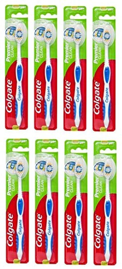 勝者成長重要なColgate Premier Clean コルゲート 歯ブラシ 8個 [並行輸入品]
