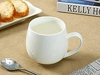 西田(Nishida) 丸いマグカップ(400ml) 白い 陶磁器 大容量 130005