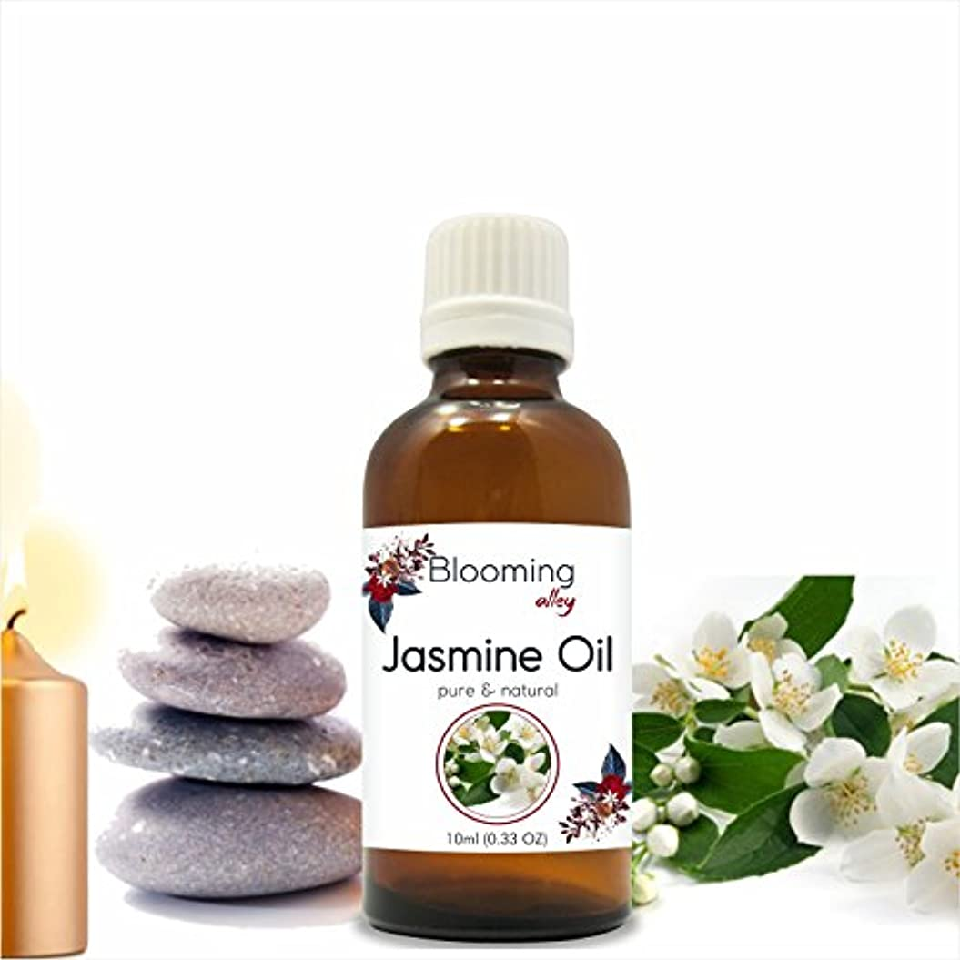 シェルター平和な誰もJasmine Oil (Jasminum Grandiflorum) Essential Oil 10 ml or 0.33 Fl Oz by Blooming Alley