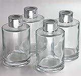 「Feel Fragrance リードディフューザー用 リードディフューザーボトル 容器 透明 蓋付き 4本セット120ML円形 (GB-120)」のサムネイル画像