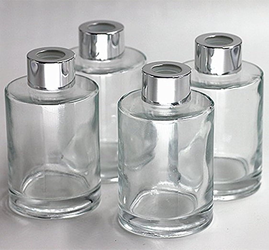 カリングバッグ有望Feel Fragrance リードディフューザー用 リードディフューザーボトル 容器 透明 蓋付き 4本セット120ML円形 (GB-120)