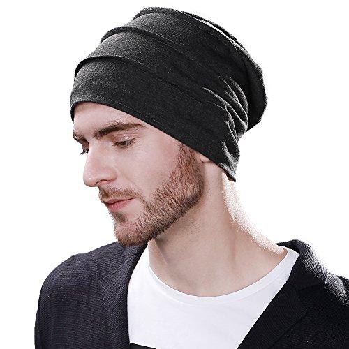 (シッギ)Siggi ソフト ニットワッチキャップ ビーニー 抗がん剤 医療治療帽子 男女兼用 春夏 伸縮フリー チャコール