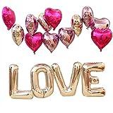 Funpa 76cm 風船 バルーン ハート型 可愛い プロポーズ 結婚記念日 誕生日 サプライズ 告白 バレンタインデー ウェディングルームデコ 雰囲気を作る 室内デコ