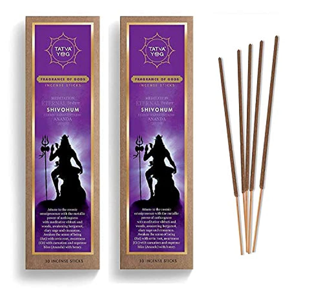運賃後四分円yog Shivohum Lasting Incense Sticks Scented Natural Agarbatti for Pooja Positive Energy, Good Health and Wealth (Pack of 2, 30 Pieces Each)