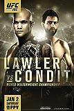 proframes UFC 195 Robbie Lawler VSカーロス・コンディットスポーツフレーム入りポスター12 x 18 18x12 inches