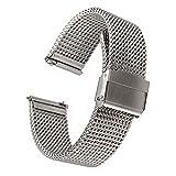 EMPIRE® イージークリック Milanese ミラネーゼ メッシュ 316L ステンレス 時計 ベルト シルバー 20mm