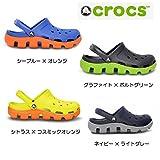 【クロックスジャパン正規品】 クロックス(crocs) デュエット スポーツ クロッグ ・ネイビー×ライトグレー ・M4/W6(22cm)