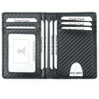 Credit Card Holder RFID Blocking Wallet Slim Wallet PU Leather Vintage Aluminum Business Card Holder Automatic Pop-up Card Case Wallet Security Travel Wallet (Light Brown)