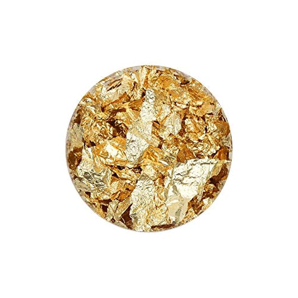 主要なインフレーション時代ネイルアート 乱切り箔乱切り箔 【M/ゴールド】金箔 銀箔 銅箔 ホイル 和装 洋装 ネイルナゲット