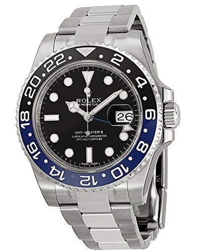 Rolex メンズ腕時計 GMTマスターII ブラックダイヤ...