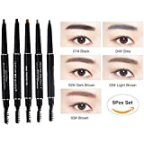 WEHEBEAUTY Women Double-use Eyebrow Pencil Waterproof With Brush Makeup Long-lasting