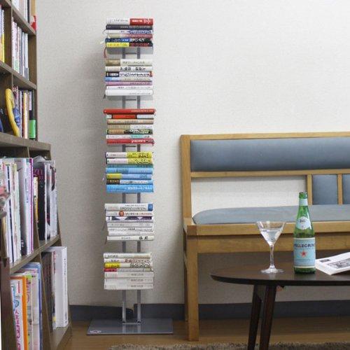 積ん読本棚 幅35×高さ130cm (シルバー)
