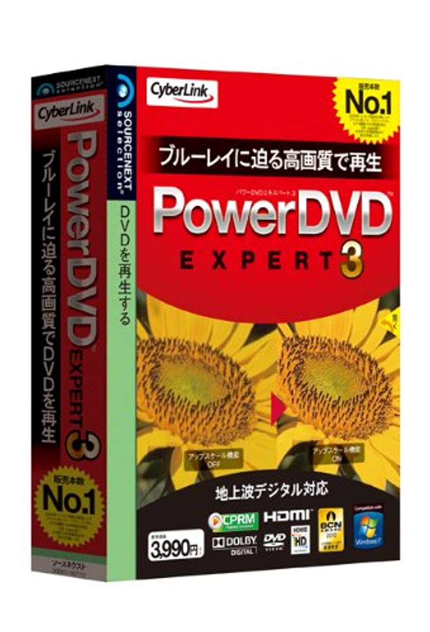 悪党ノイズ突き出すPowerDVD EXPERT 3
