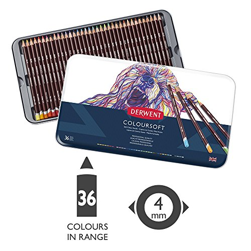 ダーウェント カラーソフト色鉛筆 36色セット