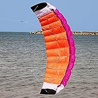 ナイロンデュアルラインParafoil Kite withコントロールバーレインボースポーツビーチクラシックダブルSequoiaソフトウェアKite Flying、Up In The Sky It Must Be a Beautiful Landscape