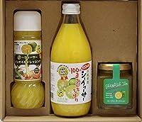 沖縄農園 シークヮーサー 食卓セット シークヮーサー 100%まるごとしぼり ドレッシング ジャム マンゴ入