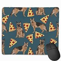 ジャーマンシェパードピザ マウスパッド ノンスリップ 防水 高級感 習慣 パターン印刷 ゲーミング ホビー 事務 おしゃれ 学習