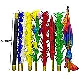 「♣zqion」羽根棒が変色 羽が傘に変わる 素手で大旗を出す 手品道具