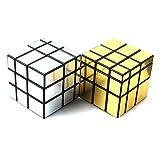 ゴールド ルービック キューブ 珍しい 回転キューブ パズルキューブ ゴールド タイプ 上級者 向け 握りやすい 中サイズ ◇SSMR11 (シルバー&ホワイト)