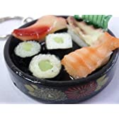 サンプル屋さん本気の逸品 食品サンプルキーホルダー 寿司にぎり盛り合わせ