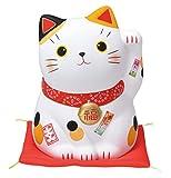 錦彩福おいで招き猫(特大・みけ)(貯金箱) AM-Y7510 中外陶園