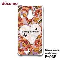 ディズニーモバイル オン ドコモ Disney Mobile on docomo F-03F スマホケース カバー バラ RB-776D