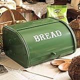 ホームステッド ローラートップブレッド缶 グリーン カントリー雑貨