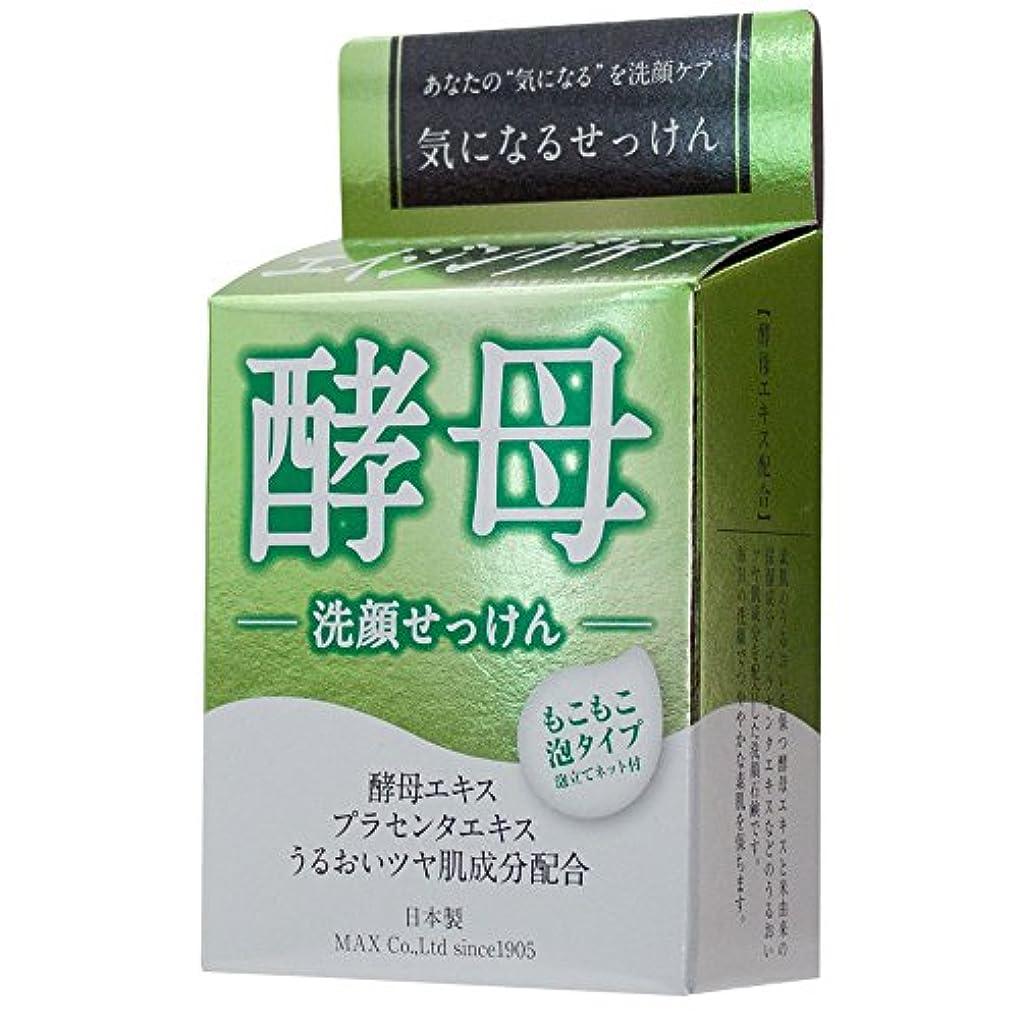定期的な喪許可マックス 気になる洗顔石けん 酵母 80g