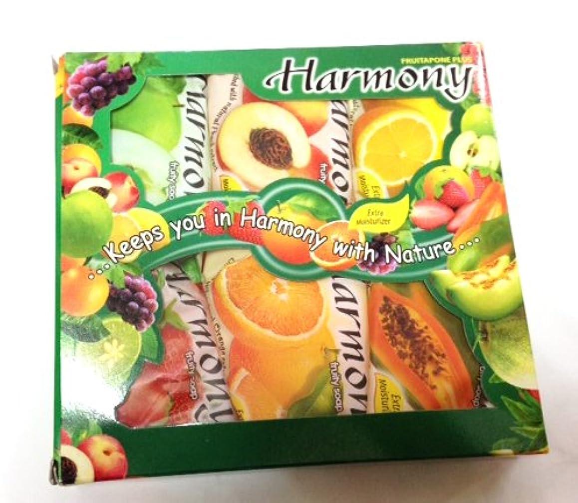 南東暗記する玉ハーモニー フルーティーソープ 6個セット パパイヤ ピーチ オレンジ レモン アップル イチゴ