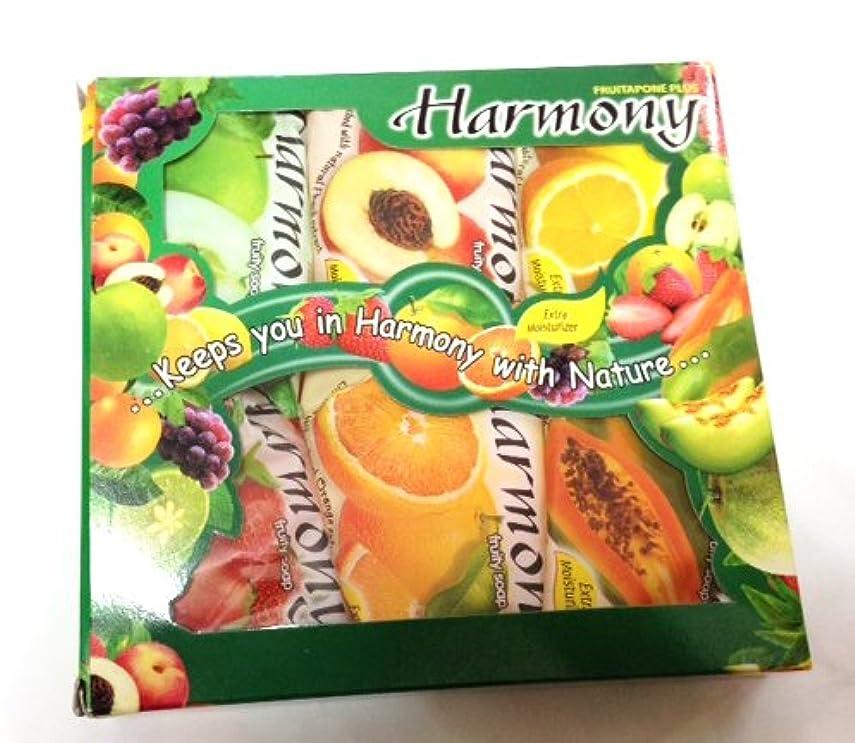 把握悪の背景ハーモニー フルーティーソープ 6個セット パパイヤ ピーチ オレンジ レモン アップル イチゴ