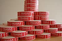 1000 Per Roll 1 x 3 FRAGILE HANDLE WITH CARE Stickers Labels Easy Peel and Apply (1 Roll) [並行輸入品]