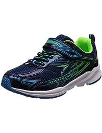 [シュンソク] 運動靴 通学履き 瞬足 幅広 衝撃吸収 高反発 19~24.5cm 3E キッズ 男の子
