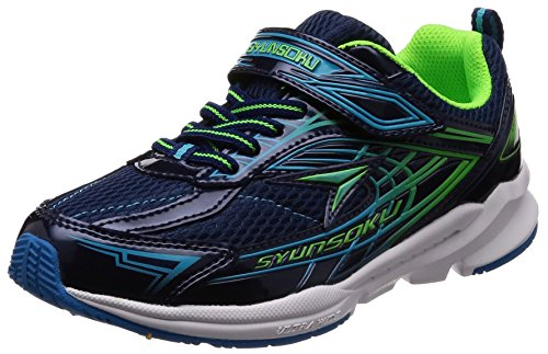 [シュンソク] 運動靴 幅広 ワイド ULTRA WIDE 19cm~24.5cm 3E SJJ 4410 ネービー 22.5 cm