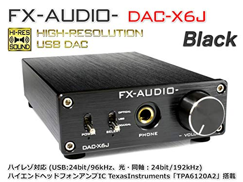 FX-AUDIO- ヘッドフォンアンプ搭載 ハイレゾ対応 ブラック DAC-X6J B01GRZ0268 1枚目