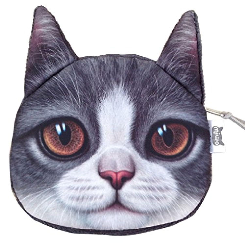 (ラボーグ) La Vogue ネコ プリント 財布 レディース 子供 3D 可愛い バッグ コインケース 4タイプ ポーチ 小零財布 アニマル 小物収納