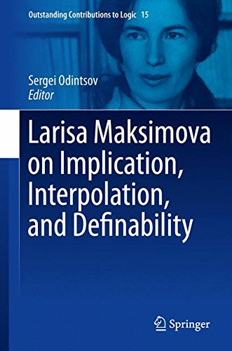 Larisa Maksimova on Implication, Interpolation, and Definability (Outstanding Contributions to Logic)