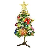 クリスマスツリー 50cm ミニ ツリー 卓上 オーナメント セット 電球 飾り付き プレゼント クリスマスグッズ イルミネーション ギフト