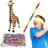 Giraffe Pinata Kit Including Pinata, Buster Stick, Bandana, 0.9kg. Toy and Candy Filler