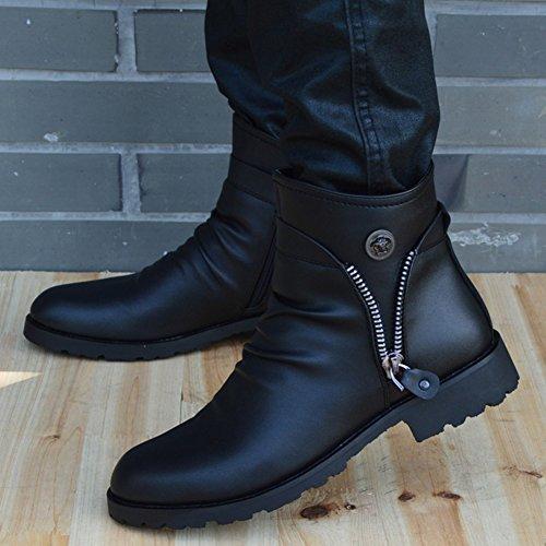 (チェリーレッド) CherryRed メンズ カジュアルシューズ ファション 紳士靴 エンジニア ライダース スタッズ ブーツ イギリス風 革 42 1#